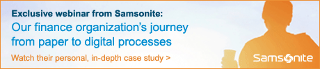 Watch Samsonite's webinar on moving from paper to digital in their finance department